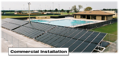 Florida Commercial Solar Pool Heater Installation